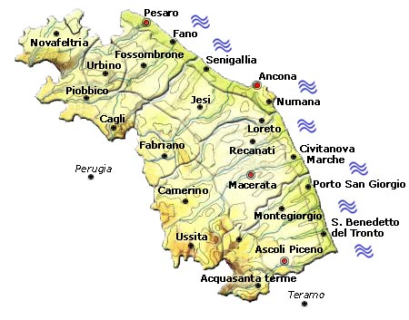Cartina Conero Marche.The Marche Region 1st Workshop On Metrology For Agriculture And Forestry